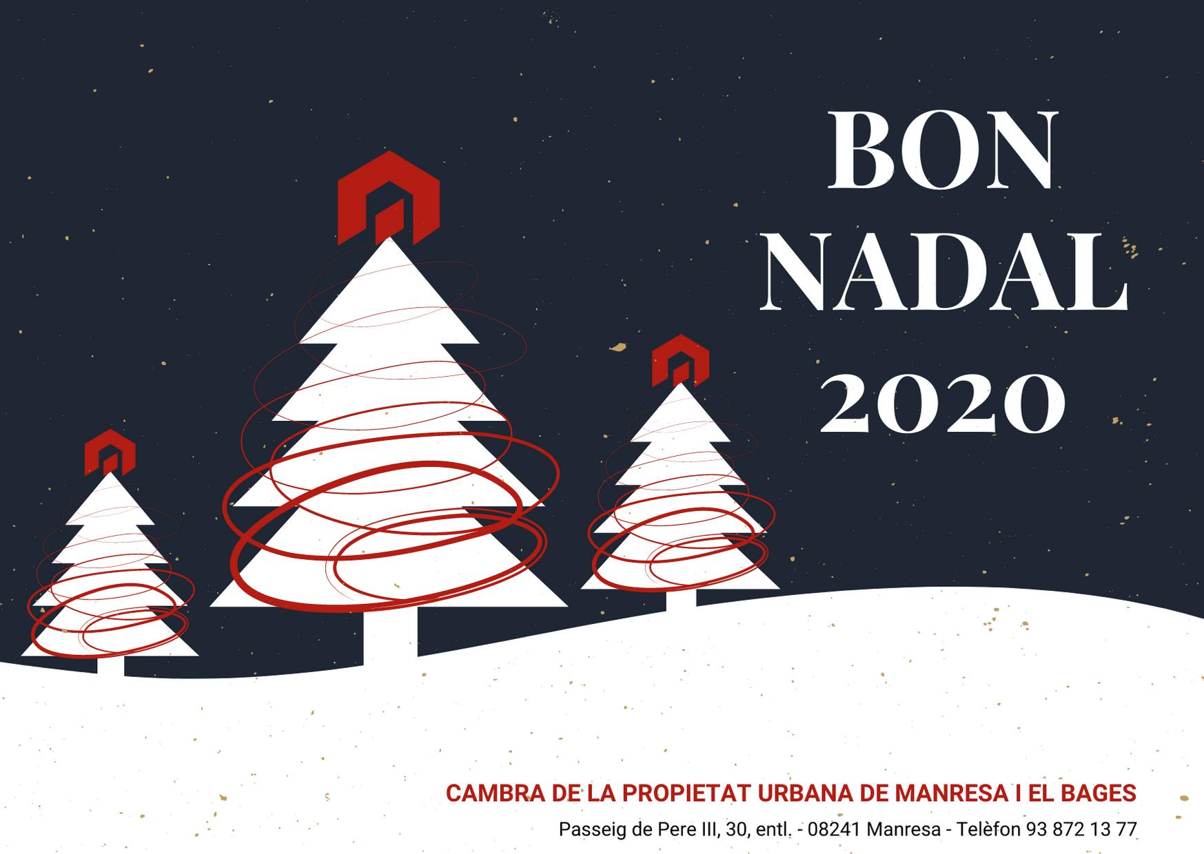 Bon Nadal 2020, Cambra de la Propietat Urbana de Manresa i el Bages